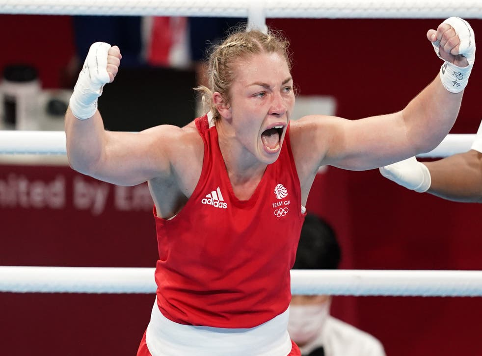 Lauren Price claimed gold for Great Britain (Martin Rickett/PA)