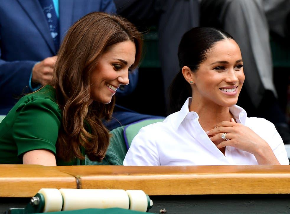 <p>(L) Kate Middleton and Meghan Markle</p>