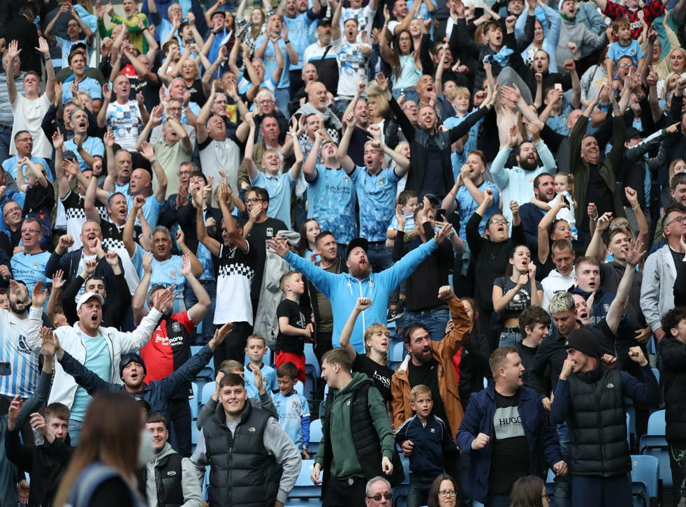 Football fans returned to stadiums in significant numbers at the weekend for the first time since March 2020 (Bradley Collyer/PA)