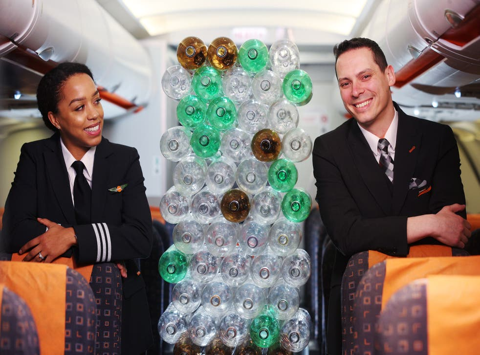 <p>EasyJet has announced its new uniforms will be made with recycled plastic bottles</p>