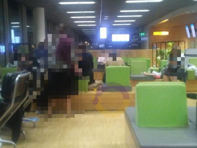 <p>Rabbi Yisroel Kahan said the group of teenagers were forced to sleep on benches at Amsterdam's Schiphol airport</p>
