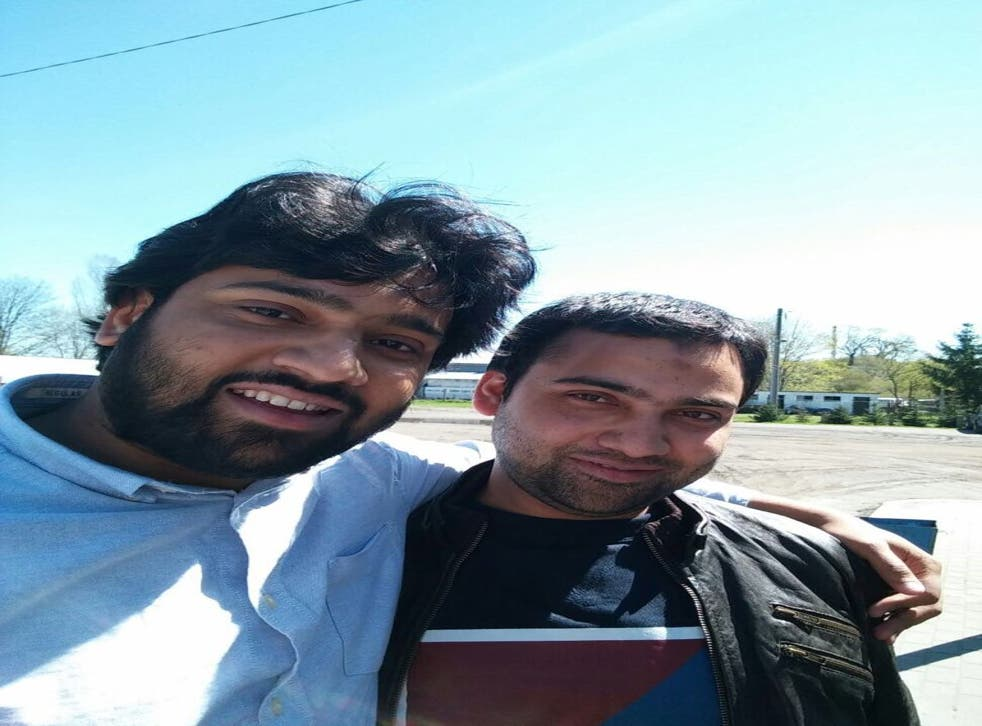 <p>Syed Hussain is worried about his brother Fahad (right), who suffers from mental health problems and is living alone in Karachi, Pakistan </p>