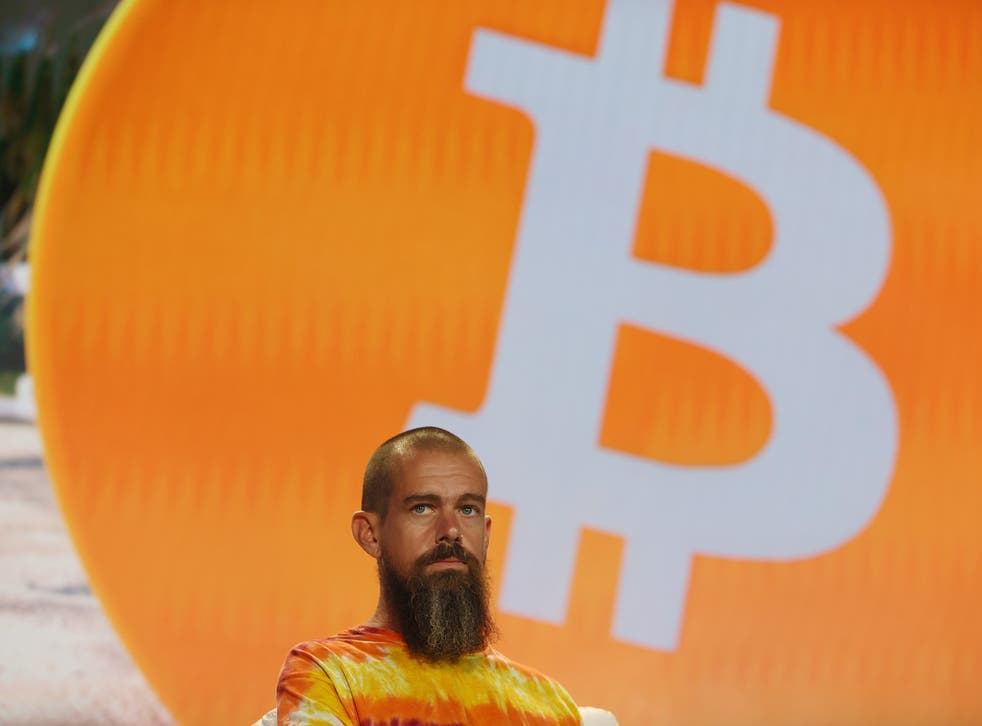 <p>Jack Dorsey creator, co-founder, and Chairman of Twitter and co-founder & CEO of Square speaks on stage at the Bitcoin 2021 Convention, a crypto-currency conference held at the Mana Convention Center in Wynwood on 4 June, 2021 in Miami, Florida</p>