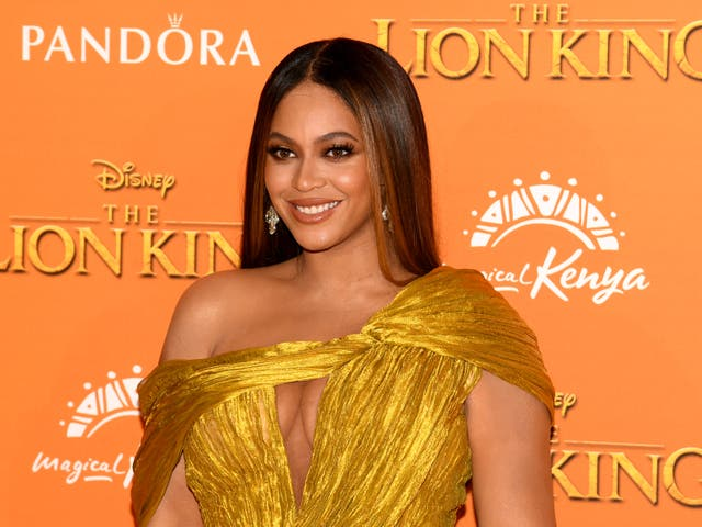 <p>Beyonce at 'The Lion King' premier in 2019</p>