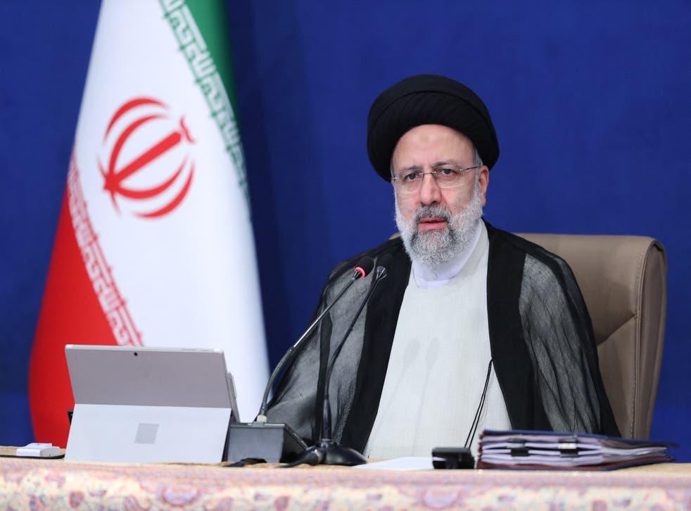 <p>Iran's President Ebrahim Raisi chairs a cabinet meeting in the capital Tehran</p>
