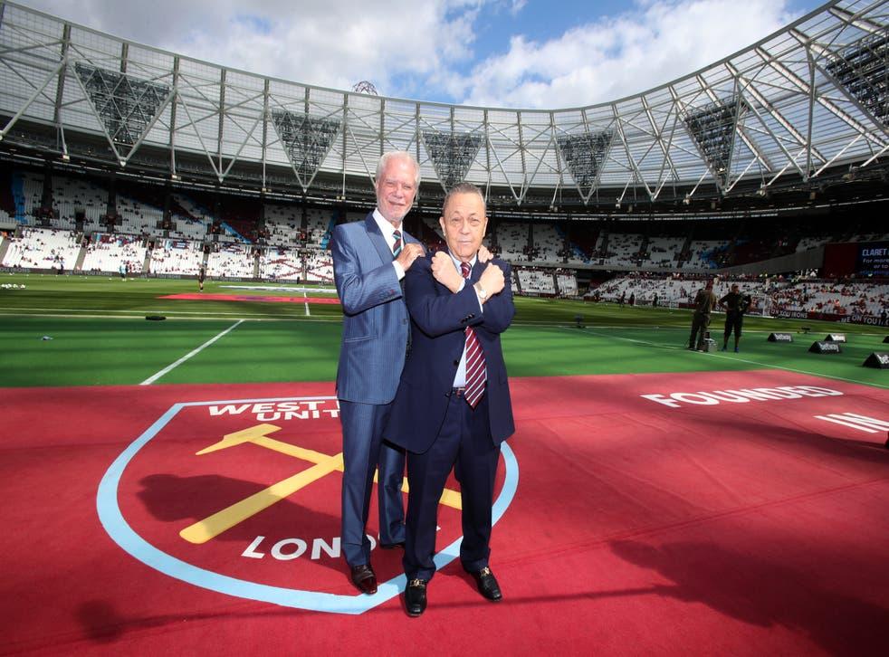 David Gold, left, and David Sullivan have no intention of selling West Ham (Nick Potts/PA)