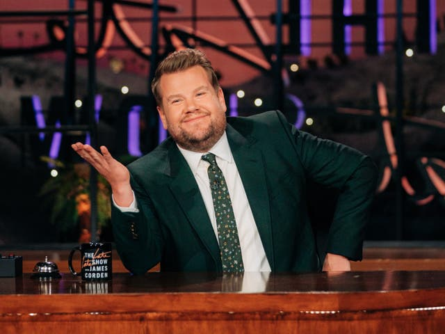 <p>Crossing the Atlantic: James Corden as the host of the late-night US talk show 'The Late Late Show'</p>