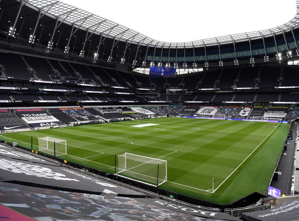 General view from inside the ground before the Premier League match at the Tottenham Hotspur Stadium, London. Issue date: Sunday May 2, 2021.