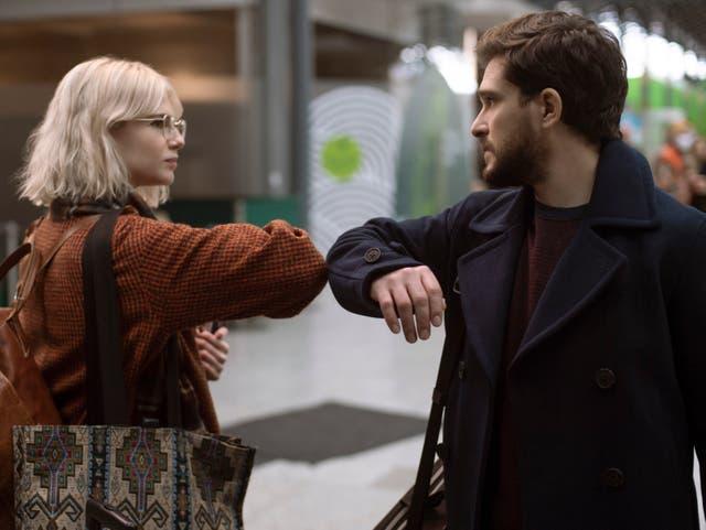 <p>Lucy Boynton and Kit Harington in 'Modern Love'</p>