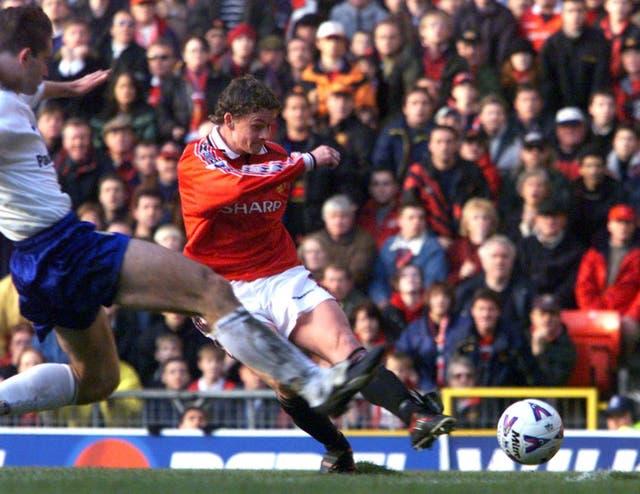 Now Manchester United manager Ole Gunnar Solskjaer has enjoyed goalscoring success against Leeds (Owen Humphreys/PA)
