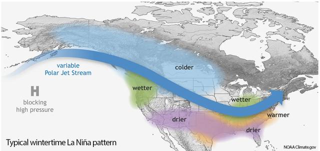 El patrón meteorológico de La Niña se favorece para volver este invierno