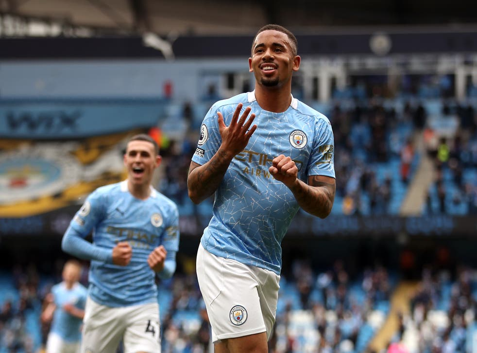 Gabriel Jesus (pictured) has a chance to step up for Manchester City following the departure of Sergio Aguero (Carl Recine/PA)