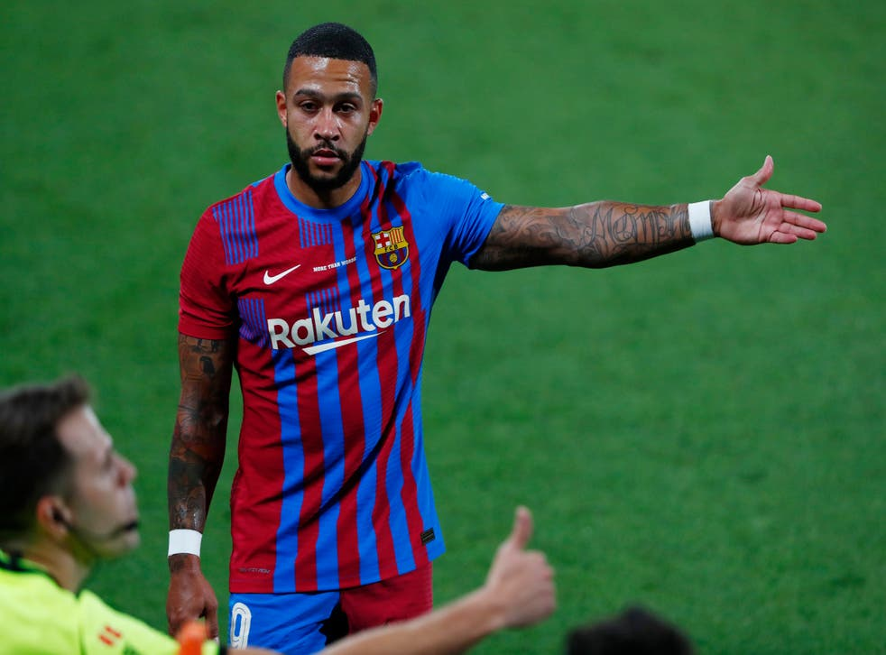 Memphis Depay joined Barcelona this summer (Joan Monfort/AP)