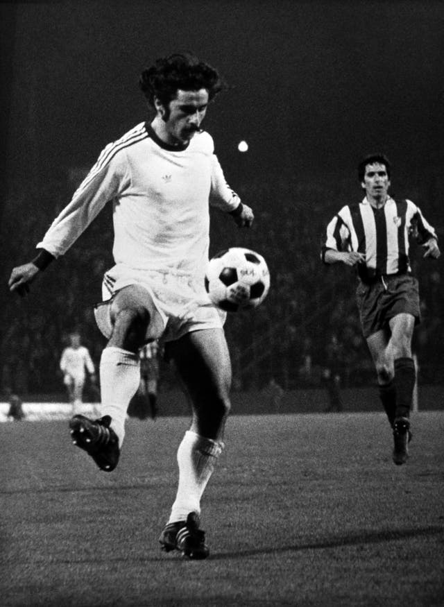 Gerd Muller in action for Bayern Munich (PA)