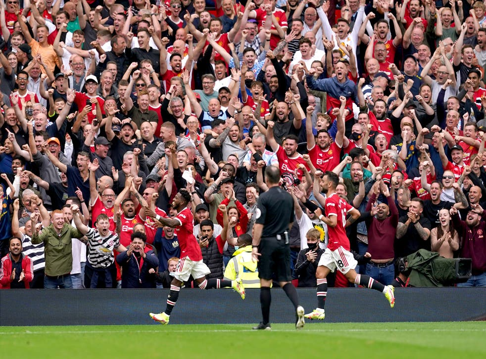Manchester United opened their season with a big win over Leeds (Martin Rickett/PA)