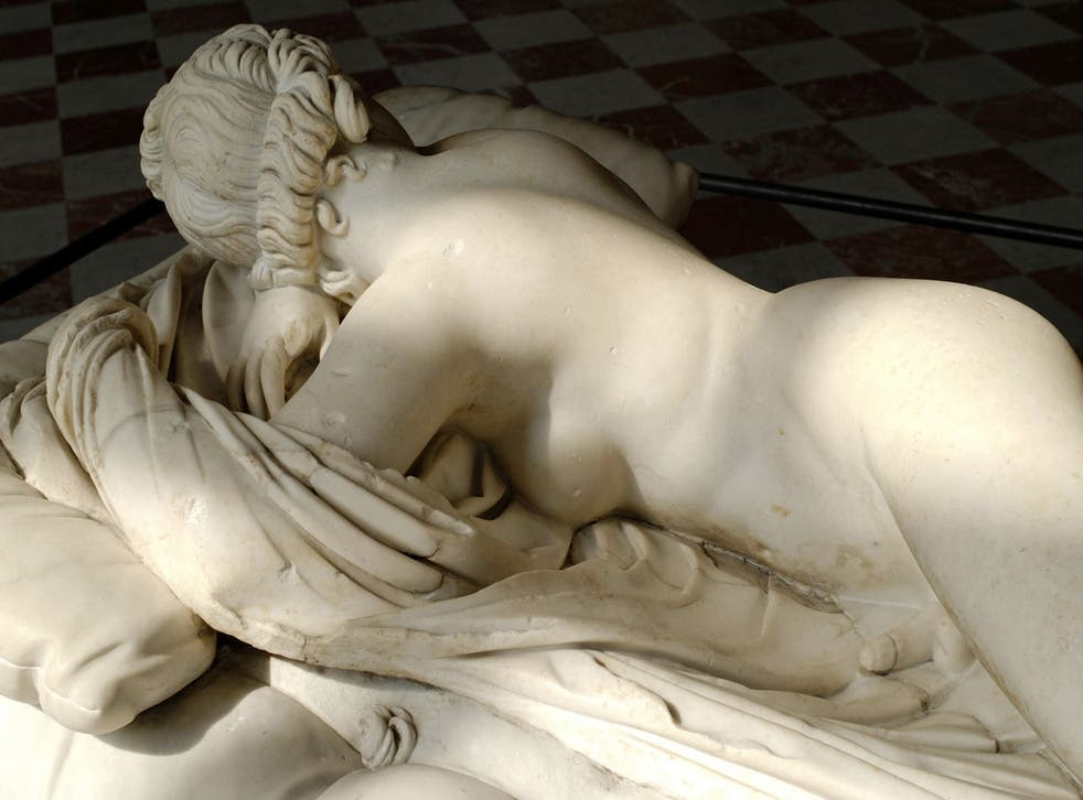 <p>The 'Sleeping Hermaphroditus' of the Louvre is seen differently from every angle </p>