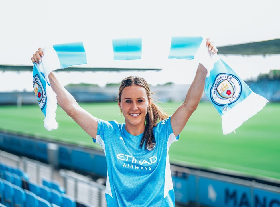 Hayley Raso has completed her move to Manchester City Women from Everton (Manchester City)