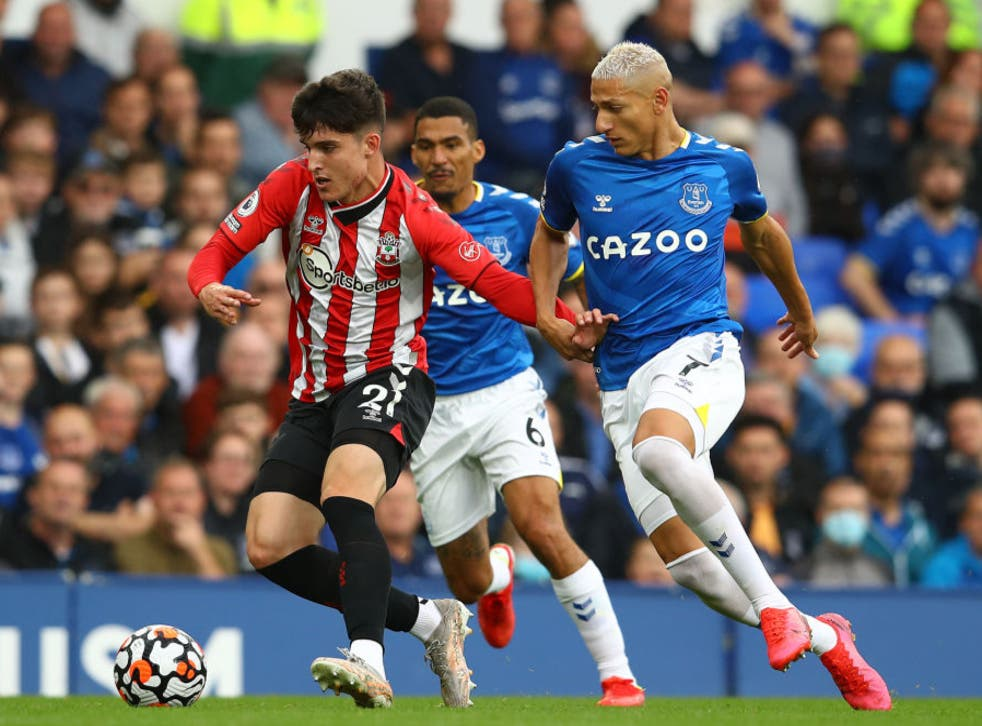 <p>Tino Livramento makes his Premier League debut against Everton</p>