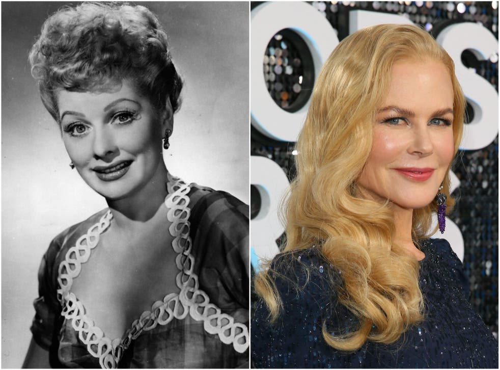 <p>Kidman will portray Lucille Ball (left) in 'Being the Ricardos'</p>