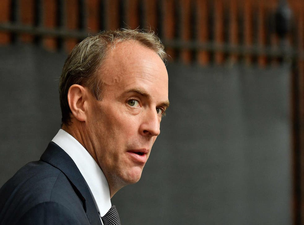 <p>Dominic Raab walks from the Foreign, Commonwealth and Development Office to No 10 on 19 August </p>