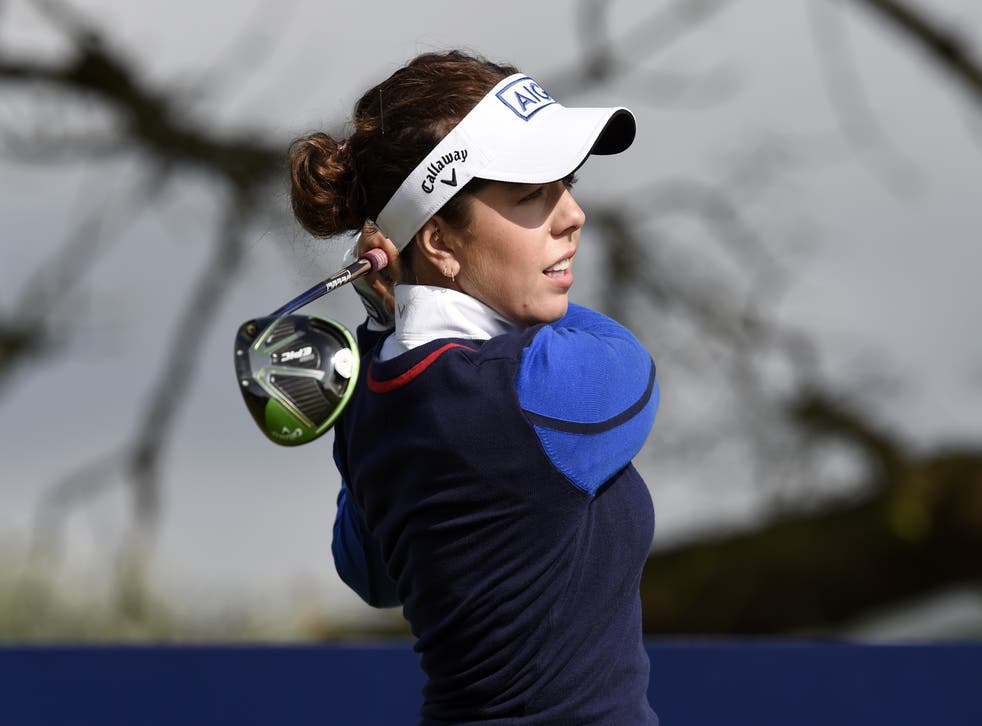 <p>England's Georgia Hall claimed a share of the halfway lead in Carnoustie </p>