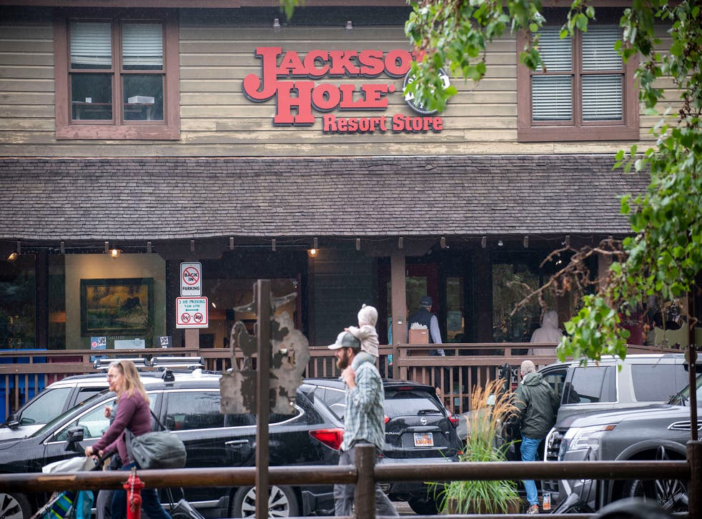 <p>This 18 August 2021 shows the Jackson Hole Resort Store downtown Jackson, Wyo. The outdoor clothing and gear company Patagonia has decided to quit supplying Jackson Hole Mountain Resort with its products, fallout from the resort owner Jay Kemmerer's support of the House Freedom Caucus.</p>