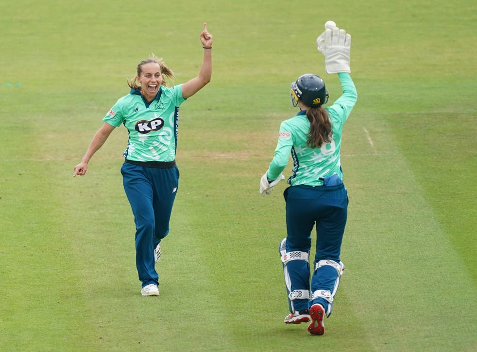 """Tash Farrant admitted she is """"emotional"""" about the prospect of a final at the home of cricket after the Oval Invincibles produced a flurry of late wickets to secure a 20-run victory over Birmingham Phoenix and reach the women's Hundred final (Yui Mok/PA)"""