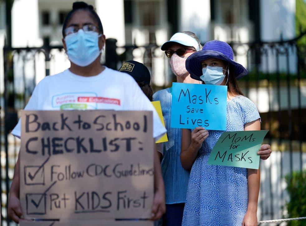 Virus Outbreak Texas Masks