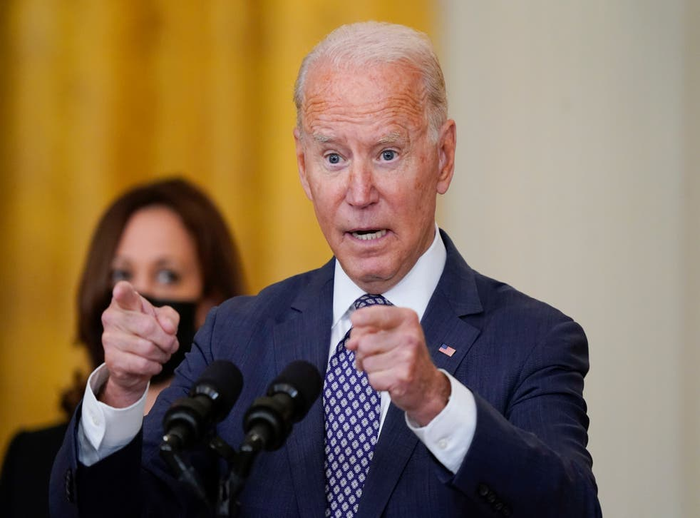 Biden officials pressed on president's misstatements about Afghanistan  withdrawal | The Independent