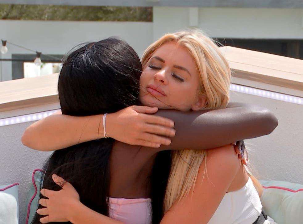 <p>Kaz and Liberty on ITV's Love Island </p>