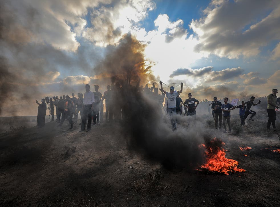 <p>Saturday's demonstration was organised by Gaza's Hamas rulers</p>