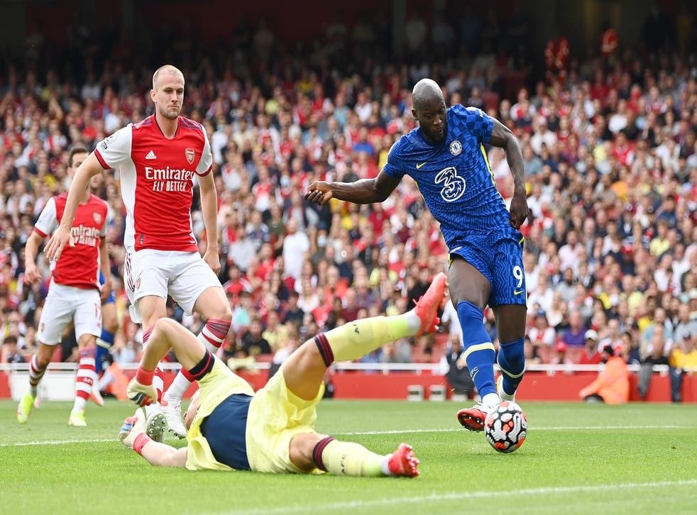 <p>Romelu Lukaku opened his Chelsea account in the 15th minute  </p>