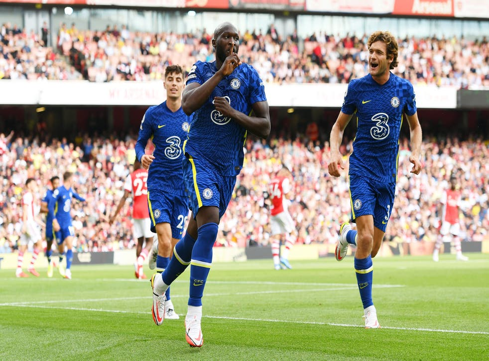 <p>Romelu Lukaku started as he means to go on </p>