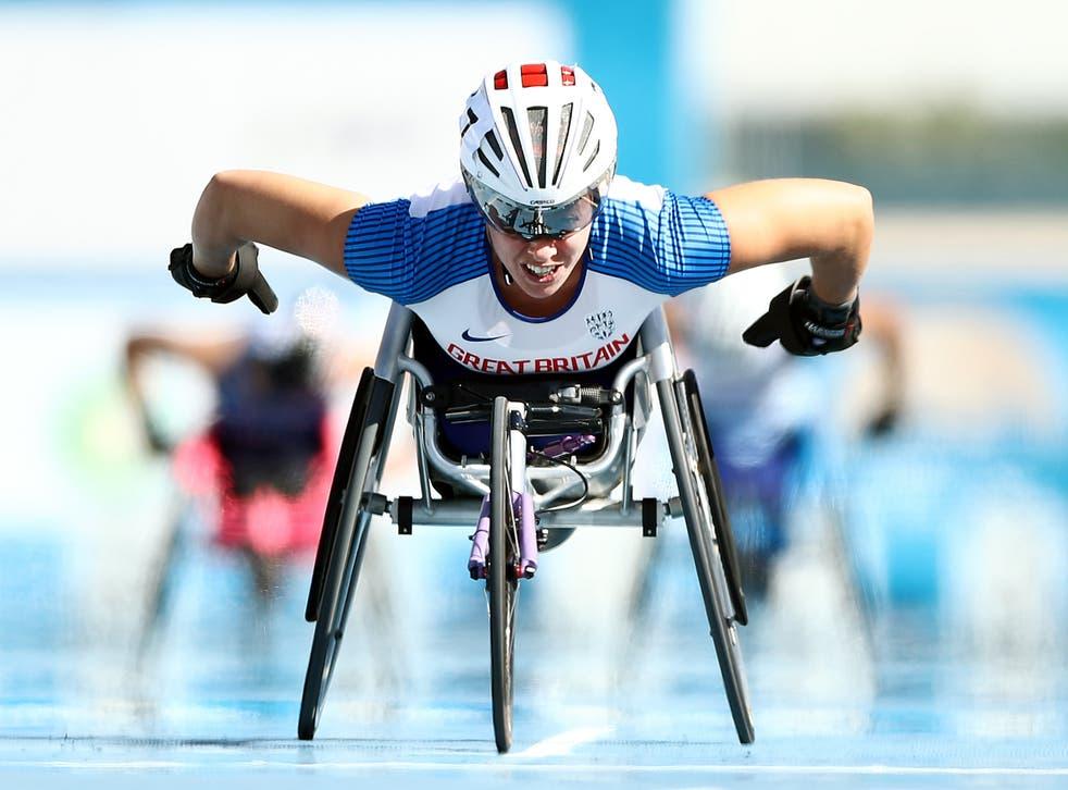 <p>Cockroft at the 2019 World Para Athletics Championship</p>