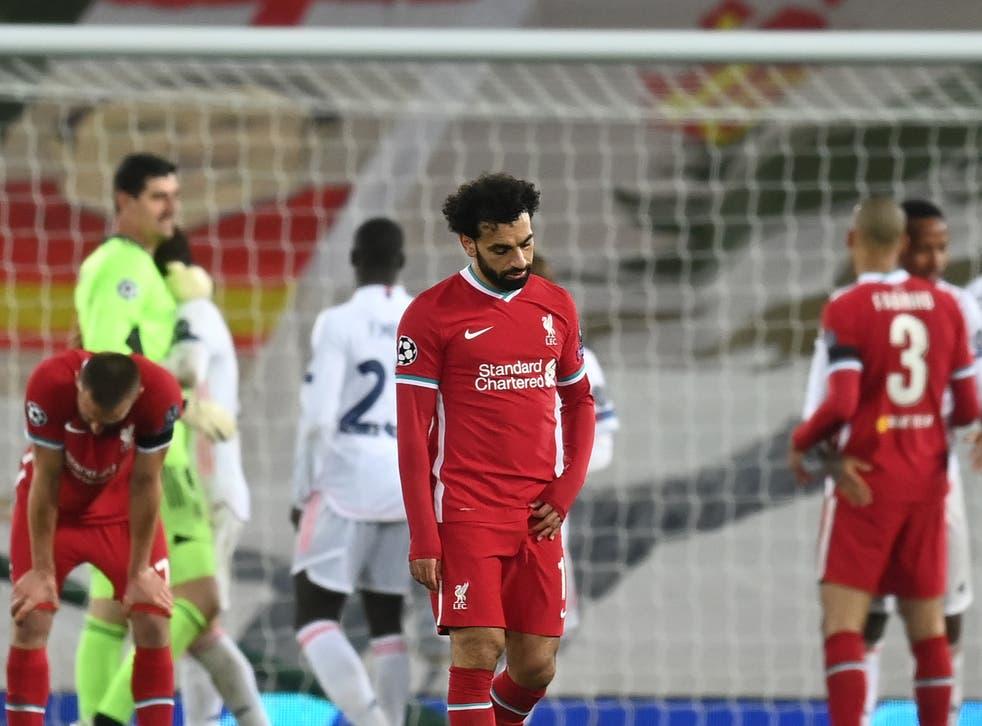 Mohamed Salah reacciona a la salida de la UCL del Liverpool ante el Real Madrid la temporada pasada