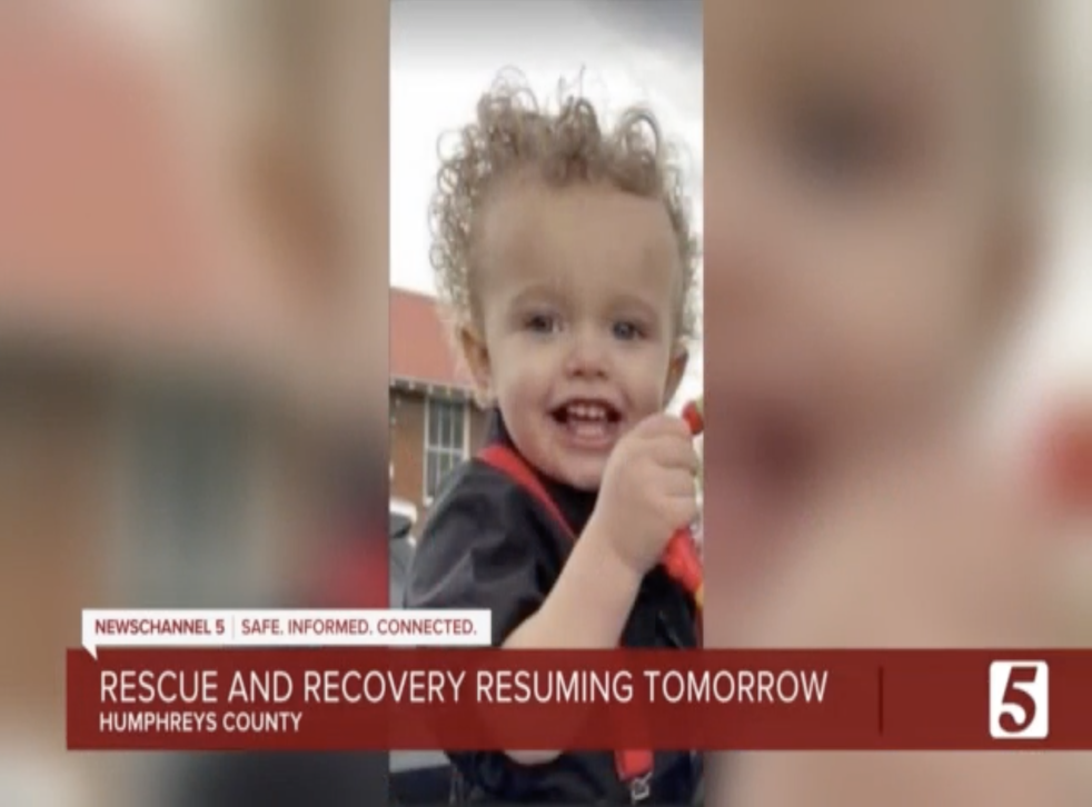 <p>Two-year-old Kellen Cole Burrow is among the missing after the weekend's deadly floods in Tennessee</p>