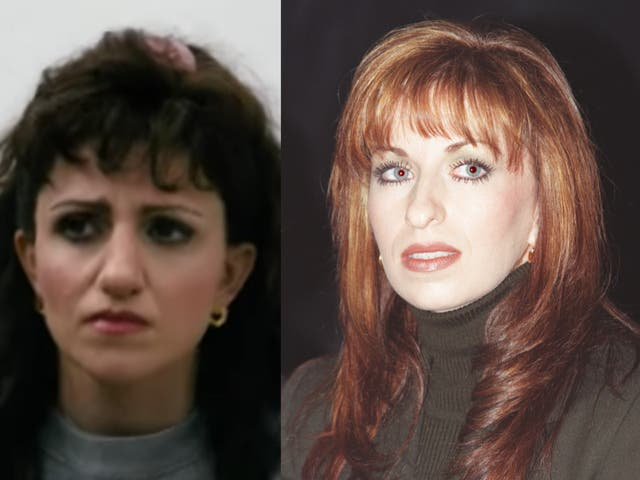 Annaleigh Ashford (izquierda) interpreta a Paula Jones (derecha) en 'Impeachment: American Crime Story'