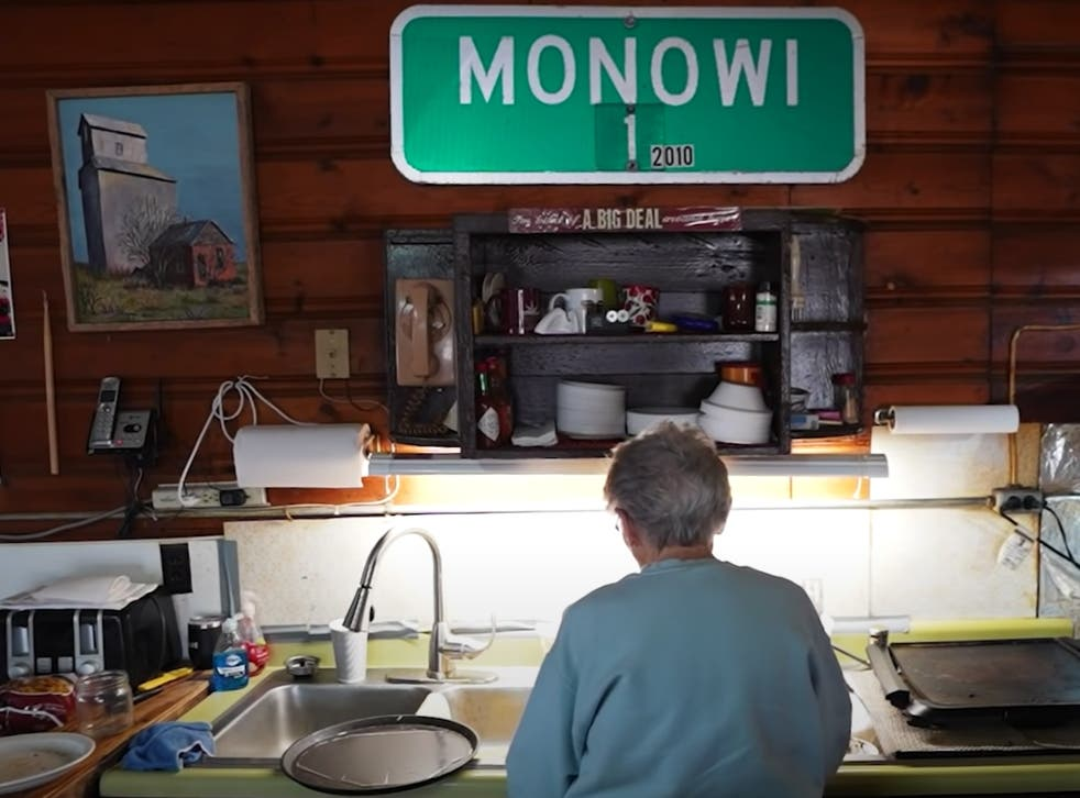<p>Elsie Eiler at her bar in the US's smallest town </p>