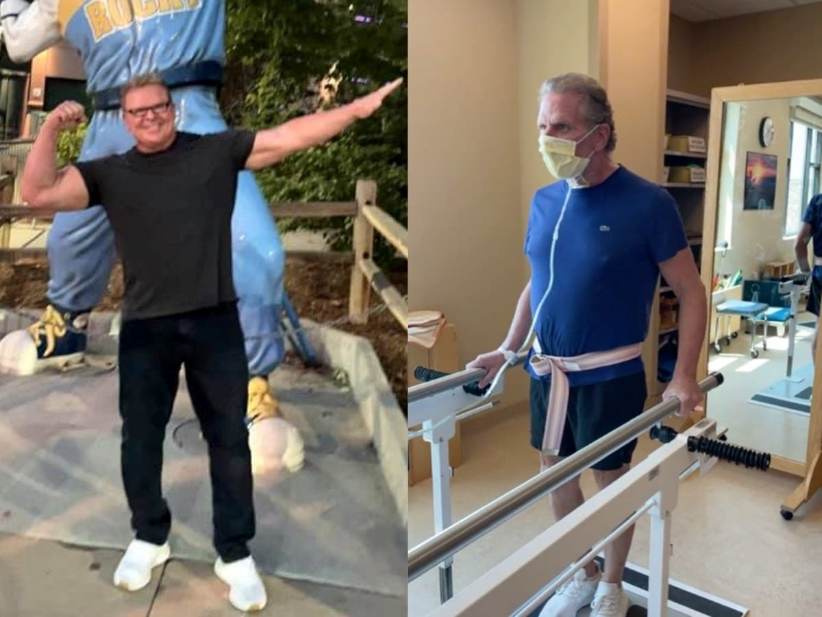 Fitness coach reveals dramatic physical deterioration after getting Covid, as he urges people to get vaccine