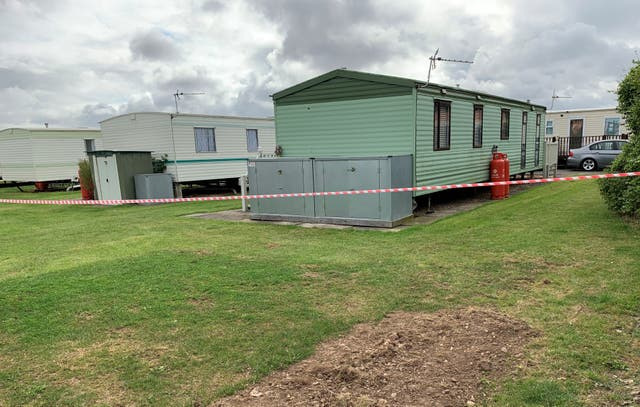 <p>The Sealands Caravan Park in Ingoldmells, near Skegness, where a two-year-old girl died following a fire at the caravan site on Monday</p>
