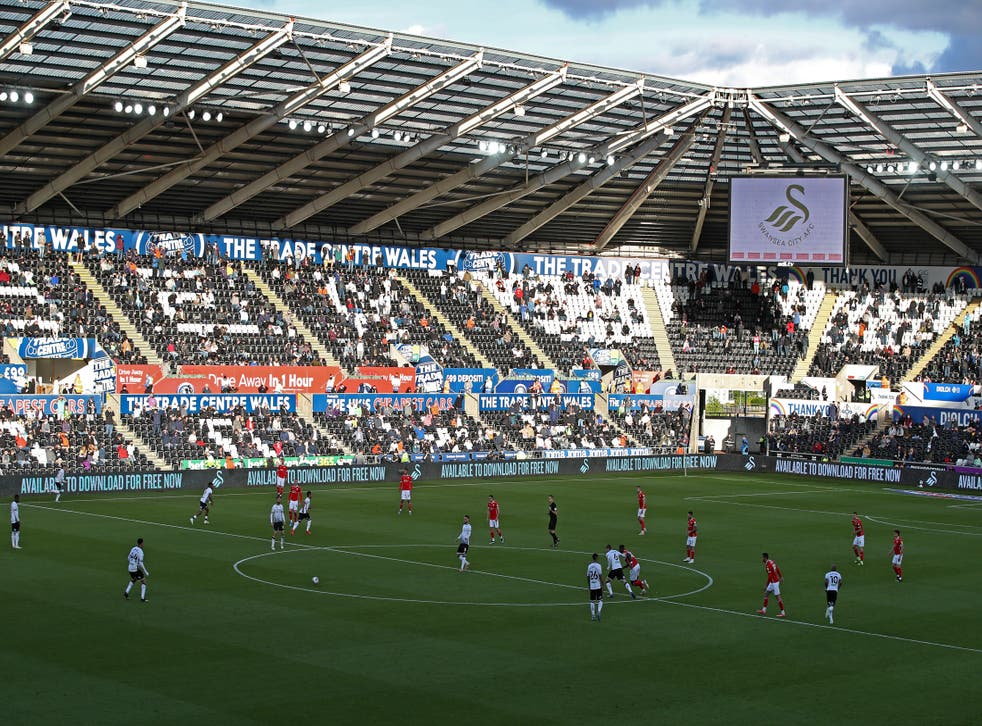An unnamed Swansea player was target of an alleged racist tweet on Tuesday (Nick Potts/PA)