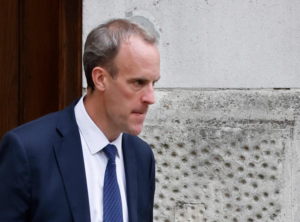 <p>Dominic Raab has escaped justified calls for his resignation </p>