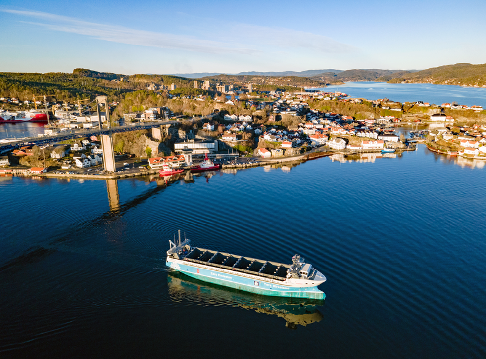 <p>The Yara Birkeland's maiden commercial voyage will take place between Herøya and Brevik in Norway without a single crew member onboard </p>