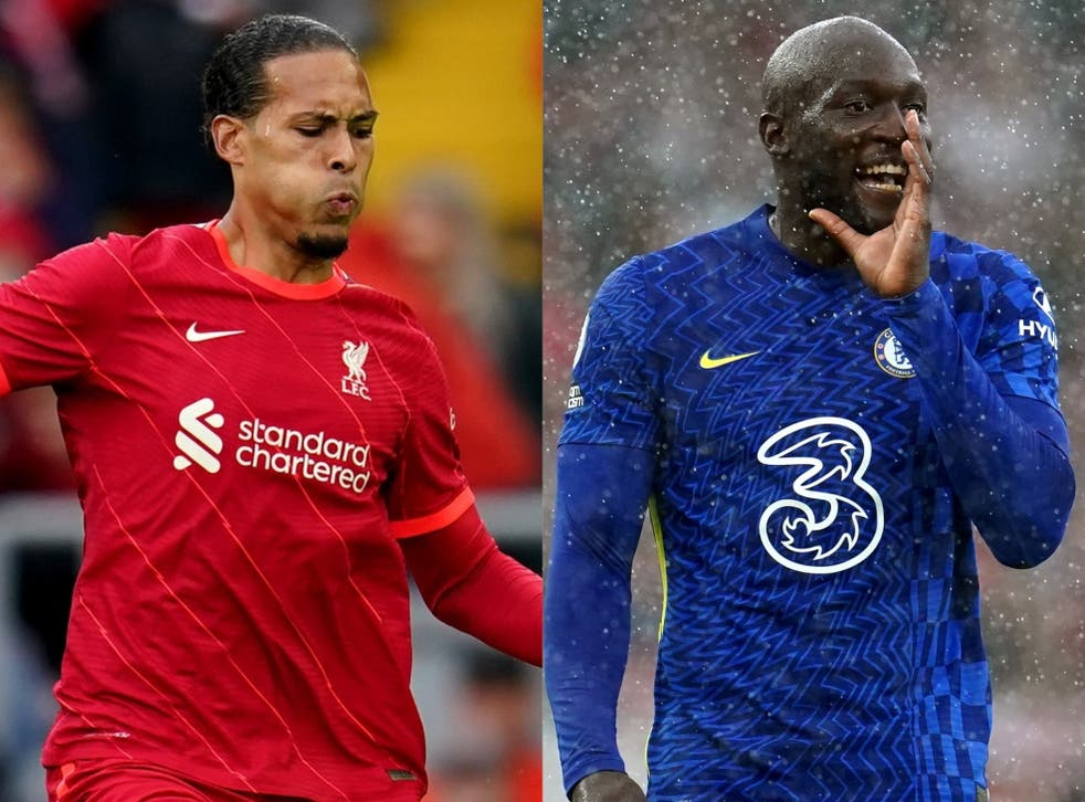 <p>Who will come out on top this week in the battle between Virgil Van Dijk and Romelu Lukaku? (PA)</p>