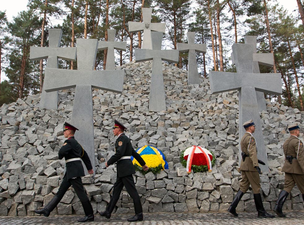 <p>Other mass graves have been discovered in the country, the most famous being the Bykivnia graves </p>