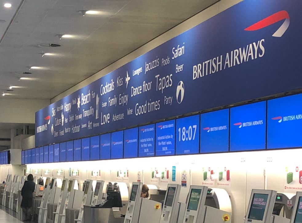<p>All change? British Airways check-in kiosks at Gatwick airport</p>