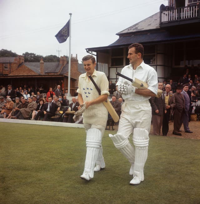 Former England and Sussex captain Ted Dexter (right) has died at the age of 86 (PA Archive)