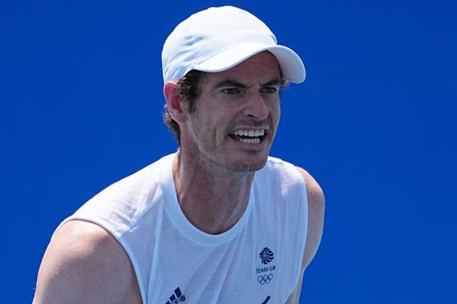 Andy Murray, pictured, will face Stefanos Tsitsipas at the US Open (PA)