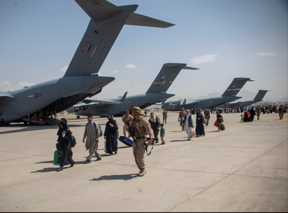 <p>About 15,000 people have been evacuated  by the UK military </p>