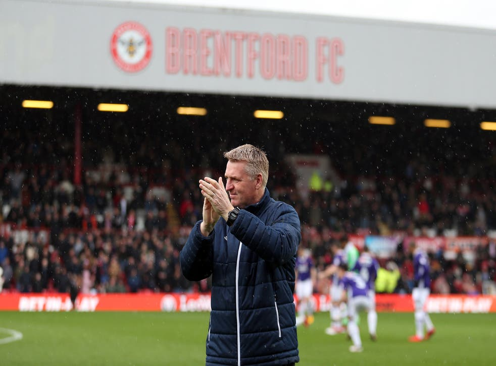 Dean Smith enjoyed almost three years in charge at Brentford before leaving for Aston Villa (Steven Paston/PA)